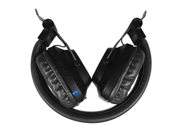 Casque audio plié