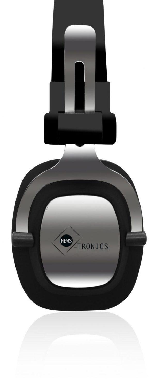 Vue de coté casque audio