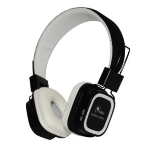 Casque audio sans fil noir et blanc