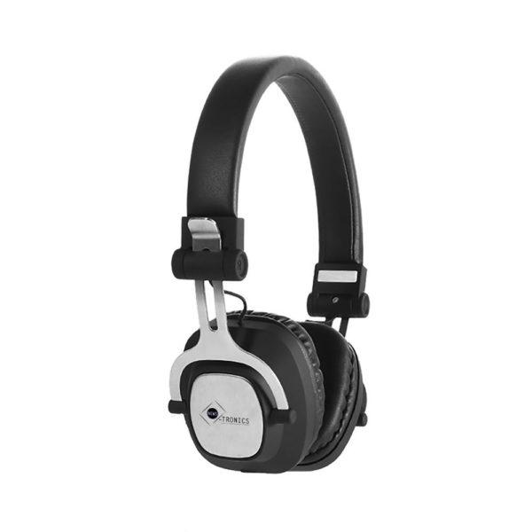 Casque audio gris et noir